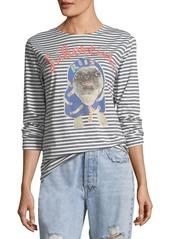 Libertine striped pug printed long sleeve t shirt abvfac95dff a