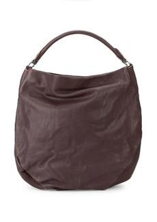 Liebeskind Debossed Logo Leather Hobo Bag