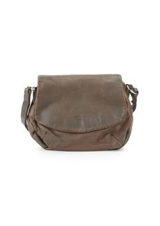 Liebeskind Debossed Logo Leather Saddle Bag