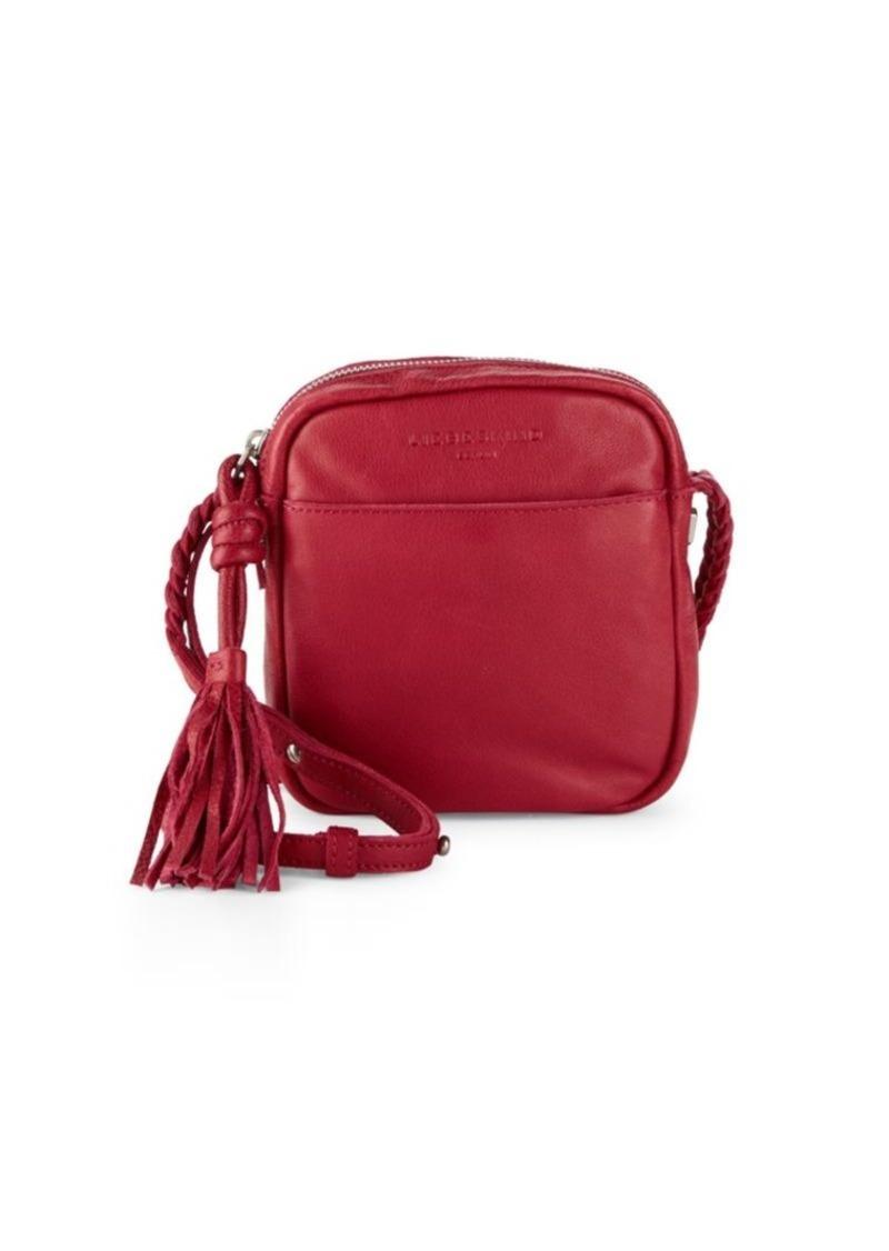 Fringe Mini Leather Crossbody Bag