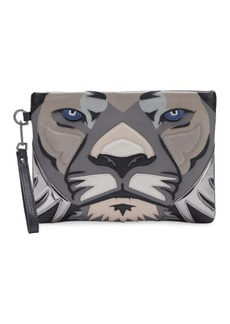 Liebeskind Berlin Lion Face Leather Wristlet
