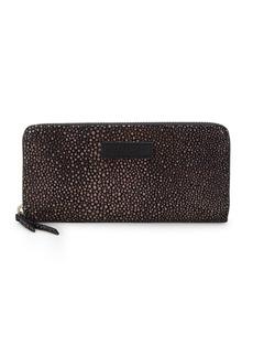 Liebeskind Metallic Stingray Leather Zip-Around Wallet