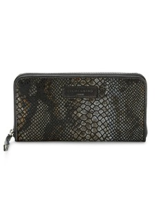 Liebeskind Snake-Embossed Leather Zip-Around Wallet