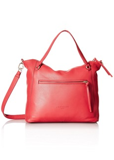 Liebeskind Berlin Women's Boweryf8 Leather Satchel with Front Pocket coral pink