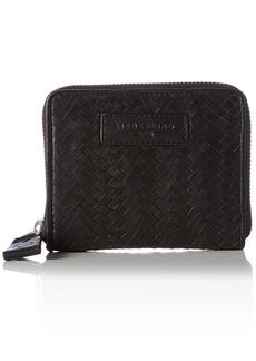 Liebeskind Berlin Women's Connyw7 Handwoven Leather Zip Around Wallet Wallet Oil Black/MultPo