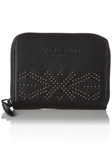 Liebeskind Berlin Women's Connyw7 Studded Zip Around Leather Wallet Wallet Oil Black/StudSp