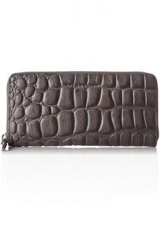Liebeskind Berlin Women's GigiW7 Croco Embossed Leather Zip Around Wallet Wallet