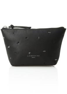 Liebeskind Berlin Women's Mainef8 Leather Embroidered Cosmetic Case