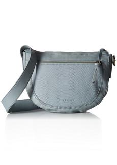 Liebeskind Berlin Women's Montoir Lasercut Leather Snakeskin Saddle Bag