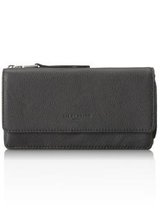 Liebeskind Berlin Women's Piaf8 Leather Zip Around Wallet black