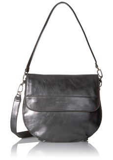 Liebeskind Berlin Women's Postinaw7 Metallic Leather Saddle Bag