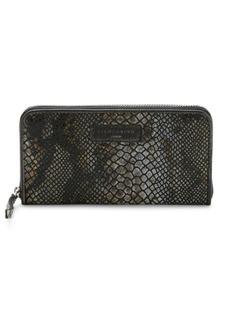 Liebeskind Berlin Snake-Embossed Leather Zip-Around Wallet