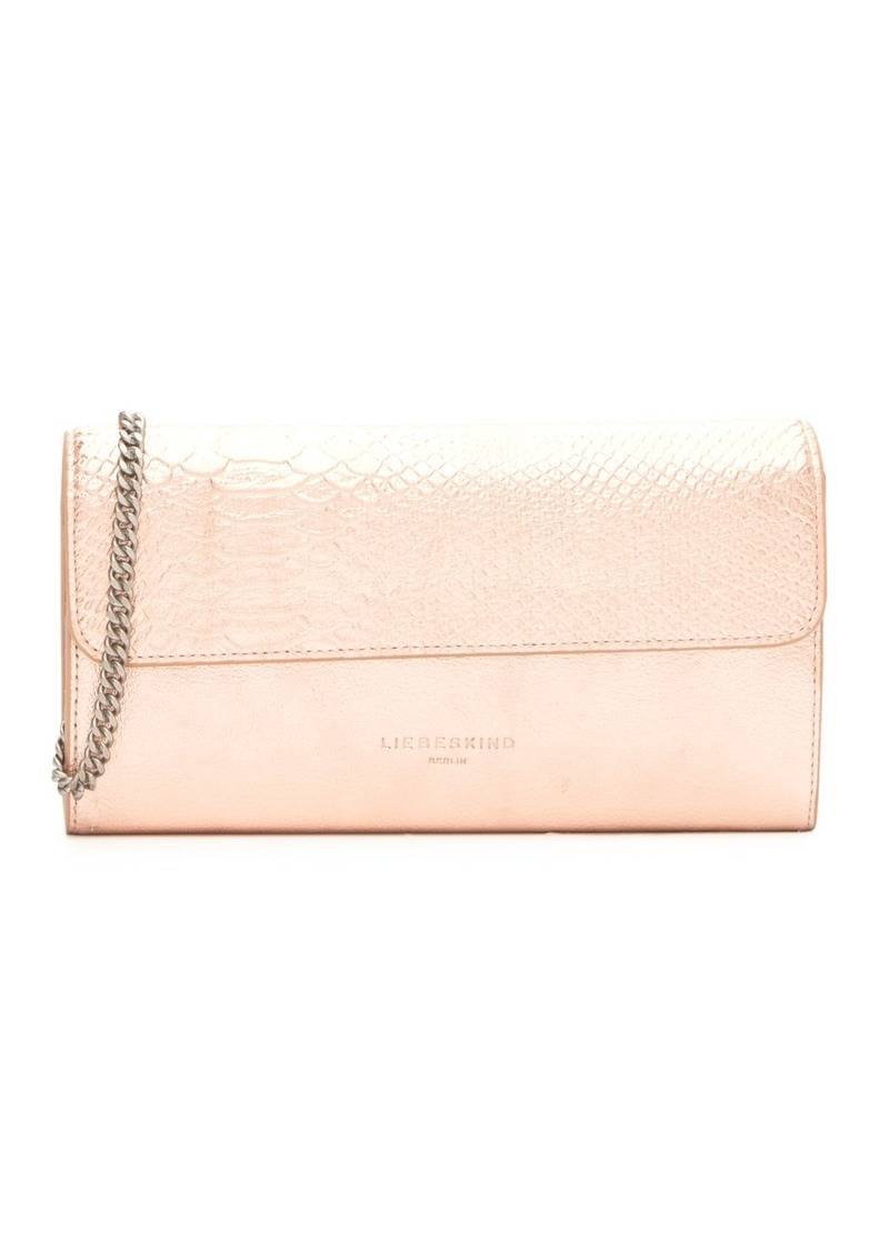 Liebeskind Maria Metallic Festival Snake Embossed Leather Clutch