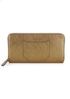 Liebeskind Metallic Leather Zip-Around Wallet