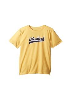 Life is good Ballyard Script Cool T-Shirt (Little Kids/Big Kids)