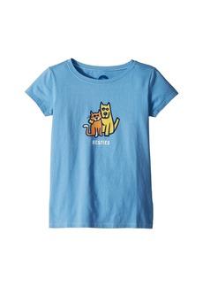 Life is good Besties Rocket and Cat Crusher Tee (Little Kids/Big Kids)
