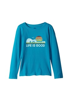 Life is good Camp Guitar Long Sleeve Crusher Tee (Little Kids/Big Kids)