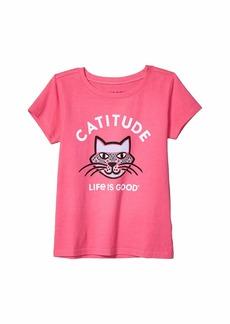 Life is good Catitude Crusher Knit Tee (Little Kids/Big Kids)