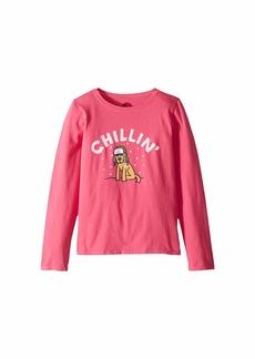 Life is good Chillin' Rocket Crusher T-Shirt Long Sleeve (Little Kids/Big Kids)