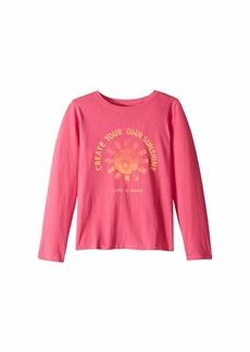 Life is good Create Your Own Sunshine Crusher T-Shirt Long Sleeve (Little Kids/Big Kids)