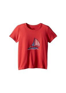 Life is good Crusher Americana Sailboat Tee (Toddler)