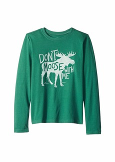 Life is good Don't Moose with Me Crusher Long Sleeve T-Shirt (Little Kids/Big Kids)