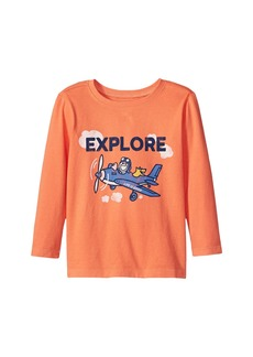 Life is good Explore Plane Long Sleeve Crusher Tee (Toddler)
