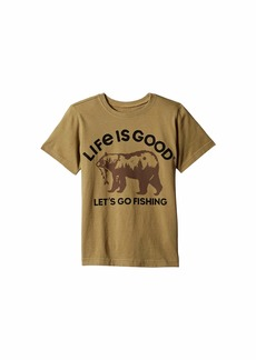 Life is good Fishing Bear Crusher™ Tee (Little Kids/Big Kids)