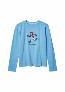 Life is good Football Jake Long Sleeve Vintage Crusher Knit Tee (Little Kids/Big Kids)