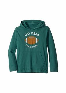 Life is good Go Deep Football Knit Tee (Little Kids/Big Kids)