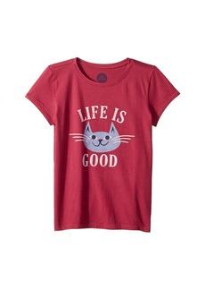 Life is good God Bless Meowica Crusher T-Shirt (Little Kids/Big Kids)
