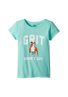 Life is good Grit Doesn't Quit Crusher Tee (Little Kids/Big Kids)