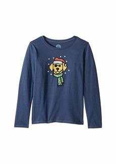 Life is good Holiday Dog Crusher Long Sleeve T-Shirt (Little Kids/Big Kids)