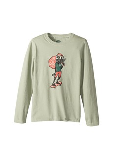 Life is good Holiday Skater Long Sleeve Crusher Tee (Little Kids/Big Kids)