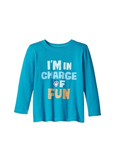 Life is good I'm In Charge Of Fun Long Sleeve Crusher Tee (Toddler)