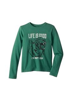 Life is good I'm not Lion Crusher T-Shirt Long Sleeve (Little Kids/Big Kids)