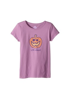 Life is good Jack O'Lantern LIG Crusher Tee (Little Kids/Big Kids)