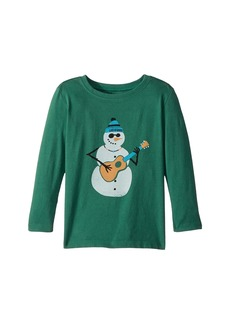 Life is good Jammin' Snowman Long Sleeve Crusher Tee (Toddler)