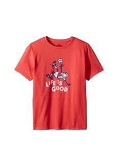 Life is good Jumping Soccer Crusher T-Shirt (Little Kids/Big Kids)