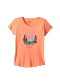 Life is good Landscape Watercolor Smiling Smooth T-Shirt (Little Kids/Big Kids)