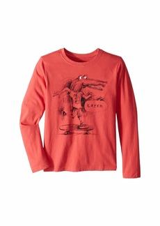 Life is good Later Gator Crusher T-Shirt Long Sleeve (Little Kids/Big Kids)