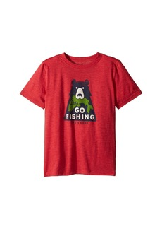 Life is good Let's Go Fishing Cool Tee (Little Kids/Big Kids)