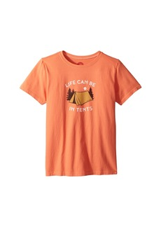 Life is good Life Can Be In Tents Crusher Tee (Little Kids/Big Kids)