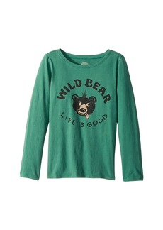Life is good Wild Bear Long Sleeve Crusher Tee (Little Kids/Big Kids)