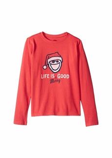 Life is good Life is Merry Good Crusher Long Sleeve T-Shirt (Little Kids/Big Kids)