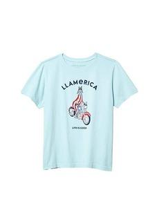 Life is good LLamerica Crusher Tee (Big Kids)
