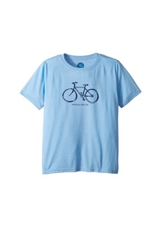 Life is good Mobile Device Bike Cool T-Shirt (Little Kids/Big Kids)