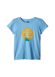 Life is good Outdoors Makes me Happy Crusher T-Shirt (Little Kids/Big Kids)