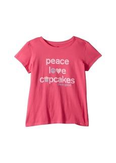 Life is good Peace, Love, Cupcakes Crusher T-Shirt (Little Kids/Big Kids)