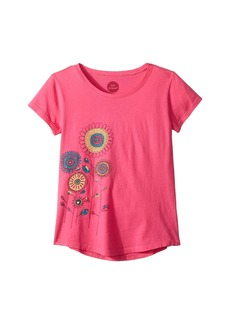 Life is good Playful Flowers Smiling Smooth T-Shirt (Little Kids/Big Kids)